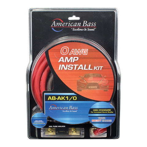 AMPLIFIER WIRING KIT 0 GAUGE AMERICAN BASS