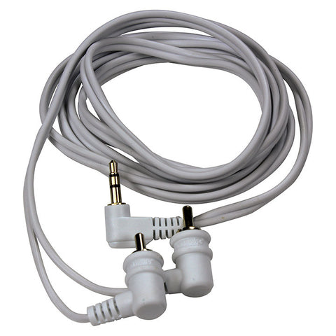ADAPTER AUDIOPIPE 3.5mm RIGHT ANGLE MALE PLUG TO RCA; 6' RIGHT ANGLE PLUG CABLE; STEREO