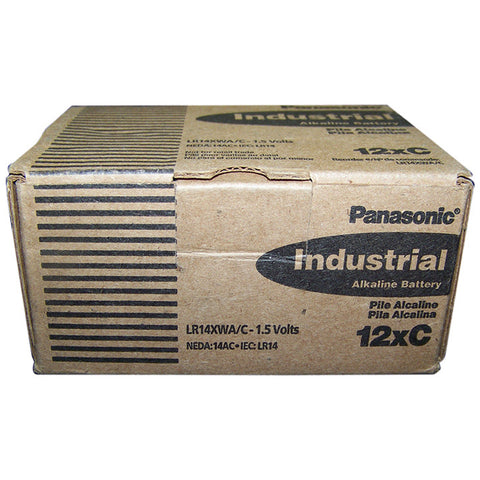"Panasonic Alkaline ""C"" Cell  12 piece box of batteries"