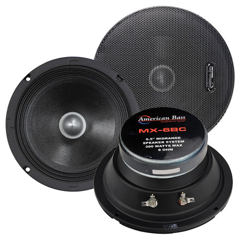 "American Bass 6.5"" Midrange Speaker 8 ohm (MX6BC)(each)"