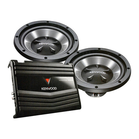 "Kenwood 12"" Bass Party Pack (KAC5206 & KFCW112S) 350W"