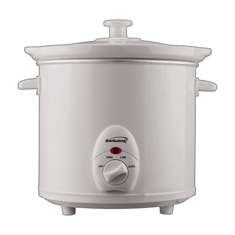 Brentwood 3-Quart Slow Cooker (White Body)