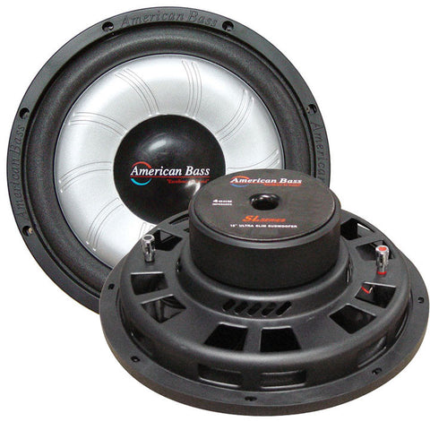 "American Bass 10"" Slim Mount Wooofer 500 watts max 4 Ohm SVC"