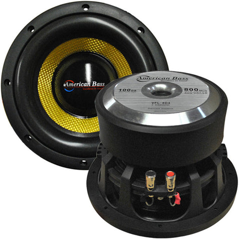 "American Bass 8"" Competition Woofer 800W max 4 Ohm DVC"