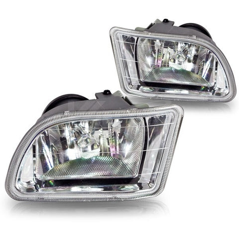 Winjet 03-04 Honda Odyssey Fog Lights - (Clear) - (Wiring Kit Included)