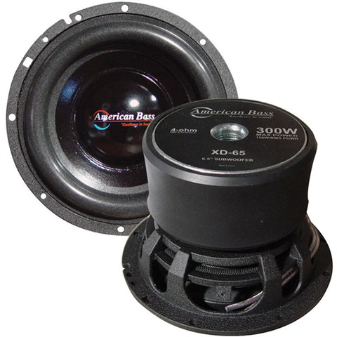 "American Bass 6.5"" Woofer 300W Max 4 Ohm SVC Sold each"