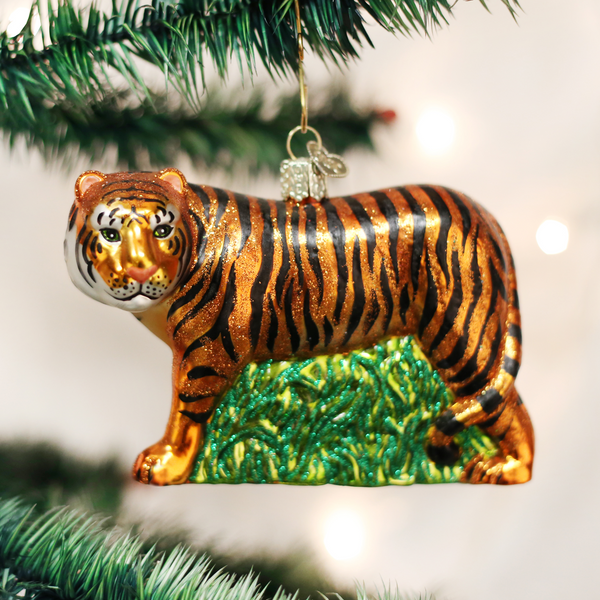 Old World Christmas Tiger Ornament