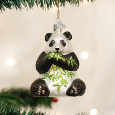 Old World Christmas Panda Bear Ornament