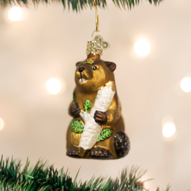 Old World Christmas Eager Beaver Ornament
