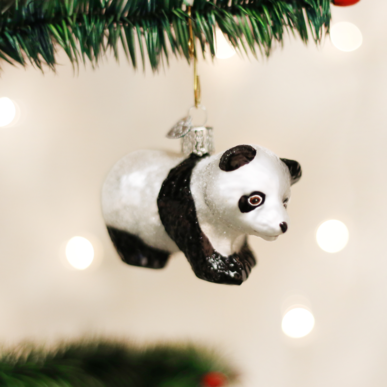 Old World Christmas Panda Cub Ornament