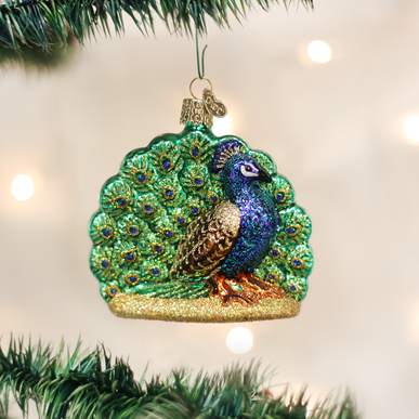 Old World Christmas Proud Peacock Ornament