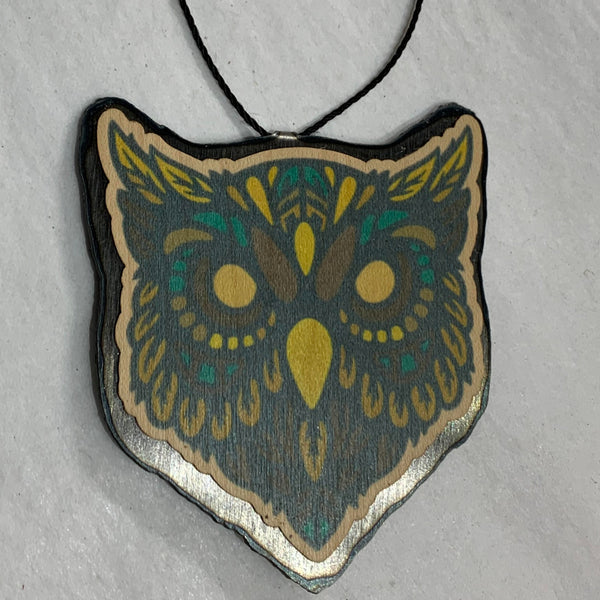 Owl Head Ornament