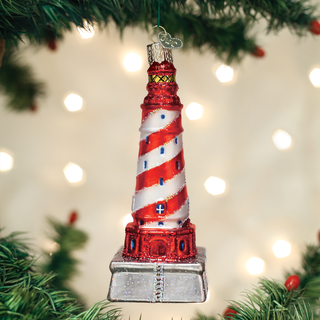 Old World Christmas White Shoal Lighthouse Ornament