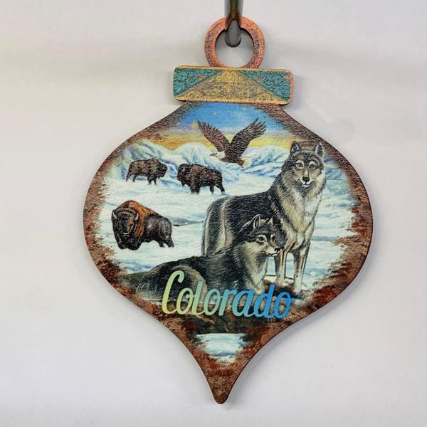 Colorado Wolf Drop Ornament