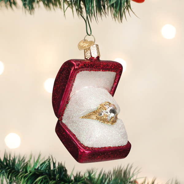 Old World Christmas Ring in Box Ornament