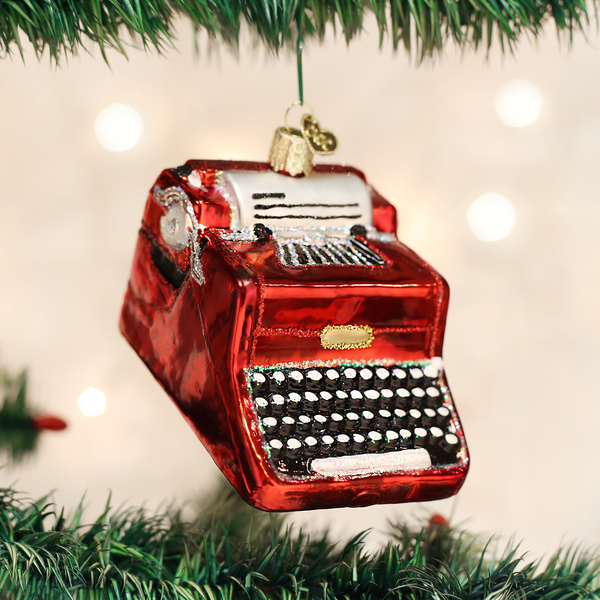 Old World Christmas Typewriter Ornament