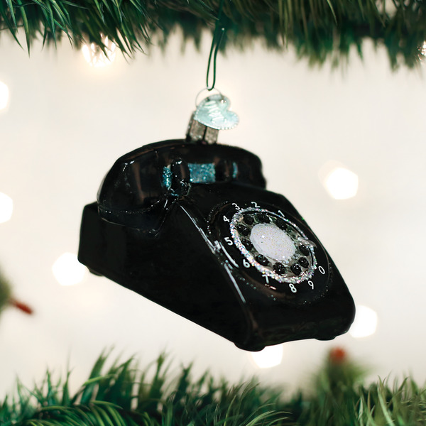 Old World Christmas Rotary Phone Ornament