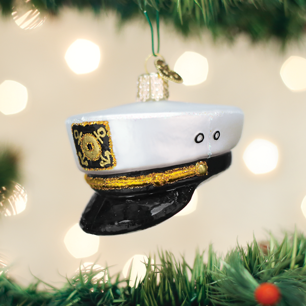 Old World Christmas Captain's Cap Ornament