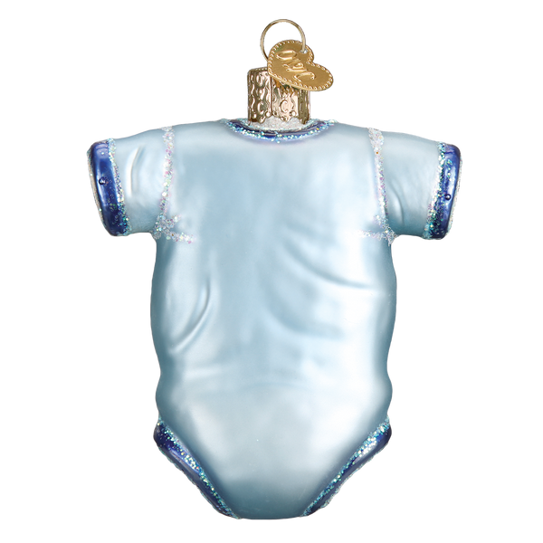 Old World Christmas Blue Baby Onesie Ornament