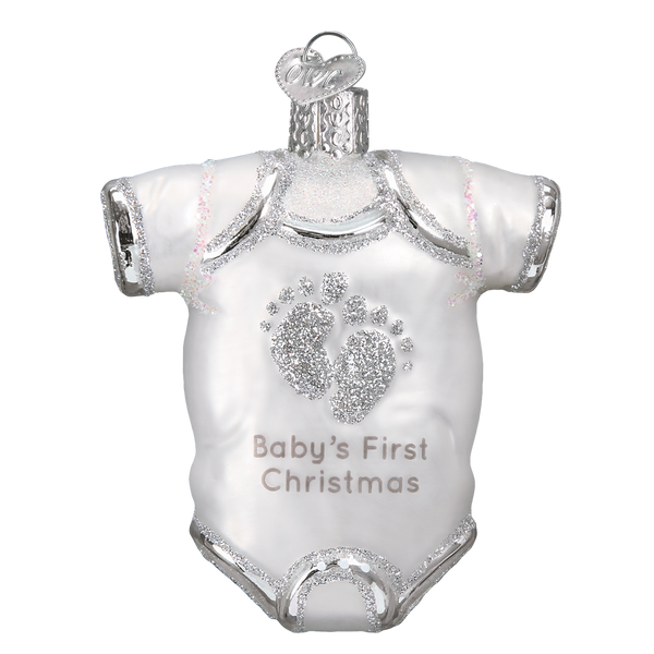 Old World Christmas White Baby Onesie Ornament