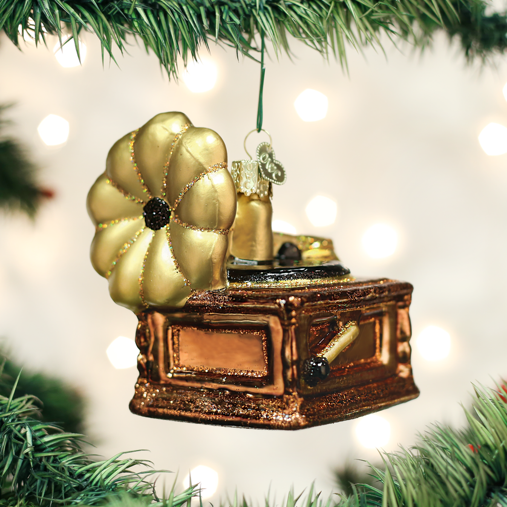 Old World Christmas Phonograph Ornament