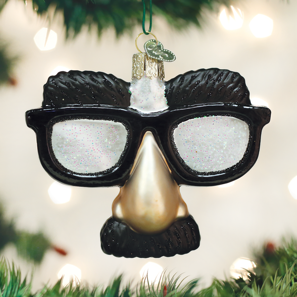 Old World Christmas Funny Face Glasses Ornament