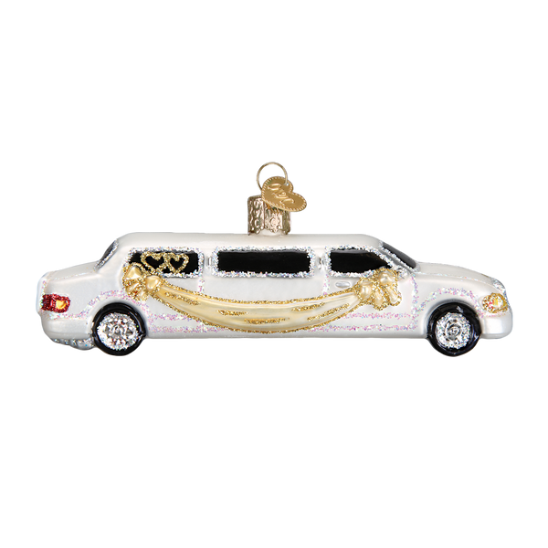Old World Christmas Just Married Limo Ornament