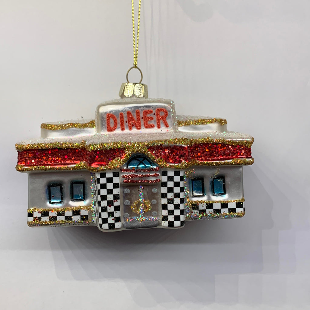 Glass Diner Ornament