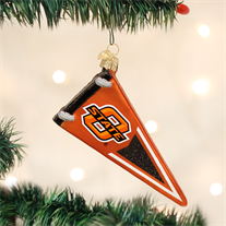 Oklahoma State Glass Pennant