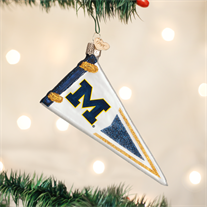 University of Michigan Glass Pennant