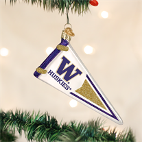University of Washington Glass Pennant