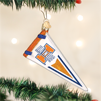 University of Illinois Glass Pennant