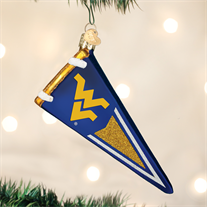 West Virginia University Glass Pennant