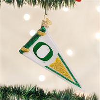 University of Oregon Glass Pennant