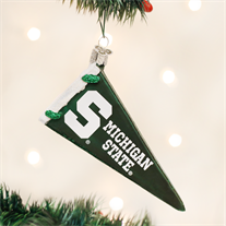 Michigan State Glass Pennant