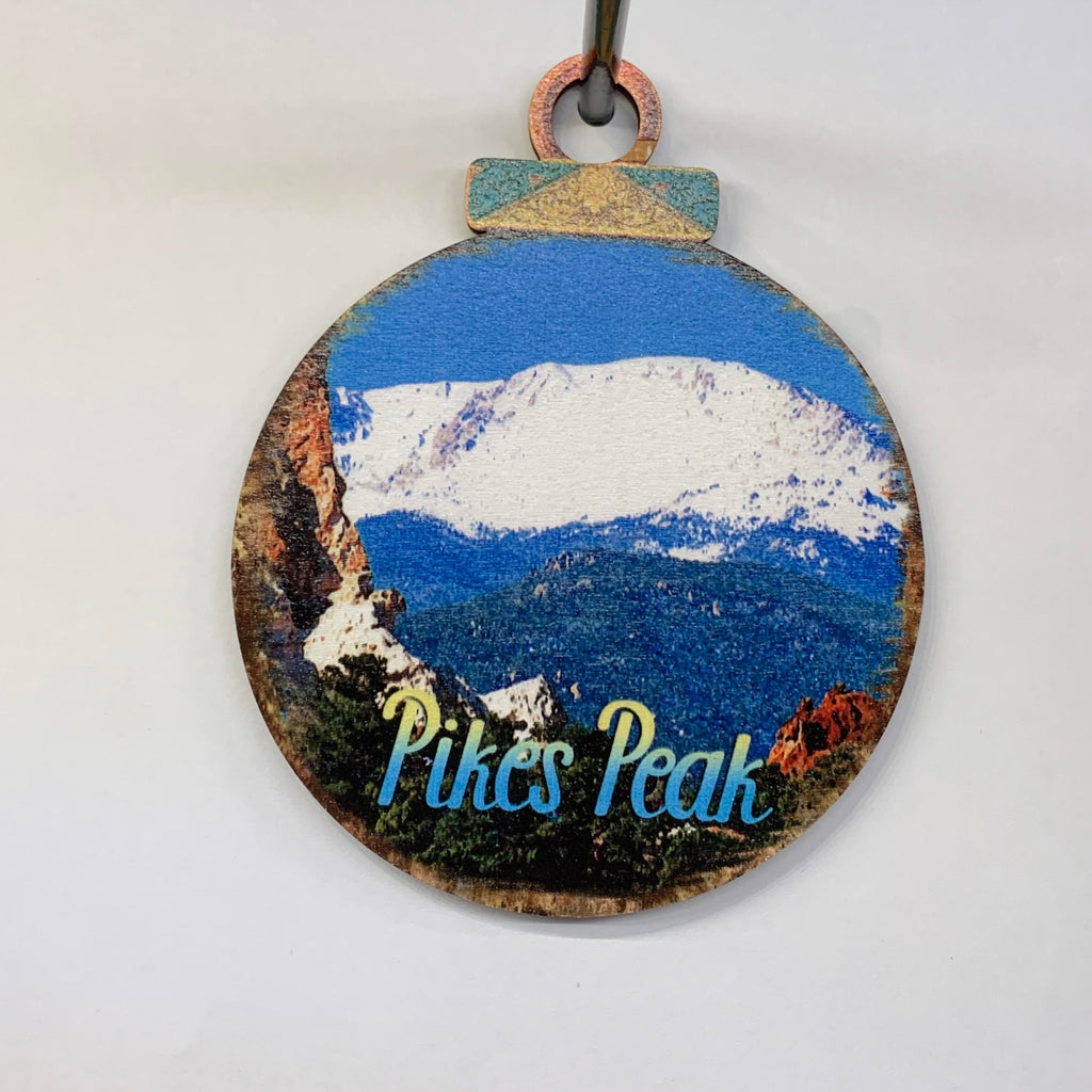 Pikes Peak Wooden Ornaments-2 Variations