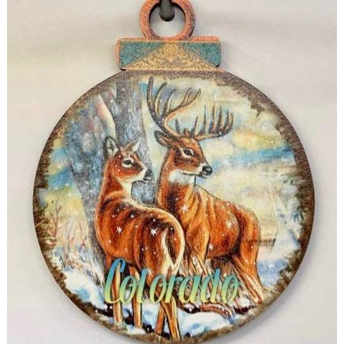 Colorado Deer Disc Ornament