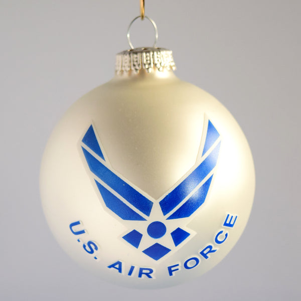 Air Force Glass Ornament