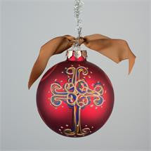Hand painted Cross Ornament