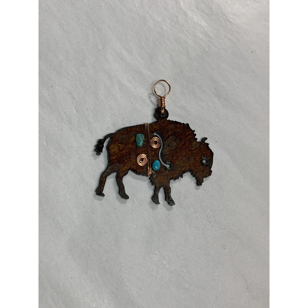 Metal Buffalo Ornament