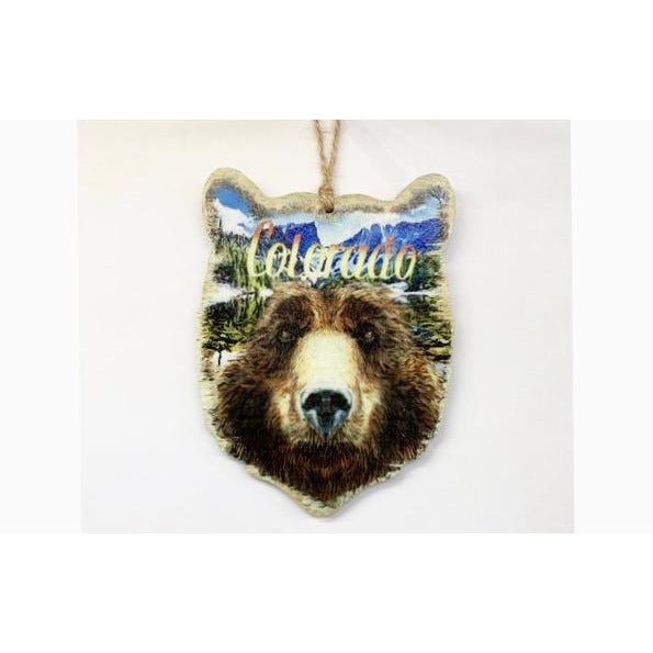 Colorado Bear Face Ornament