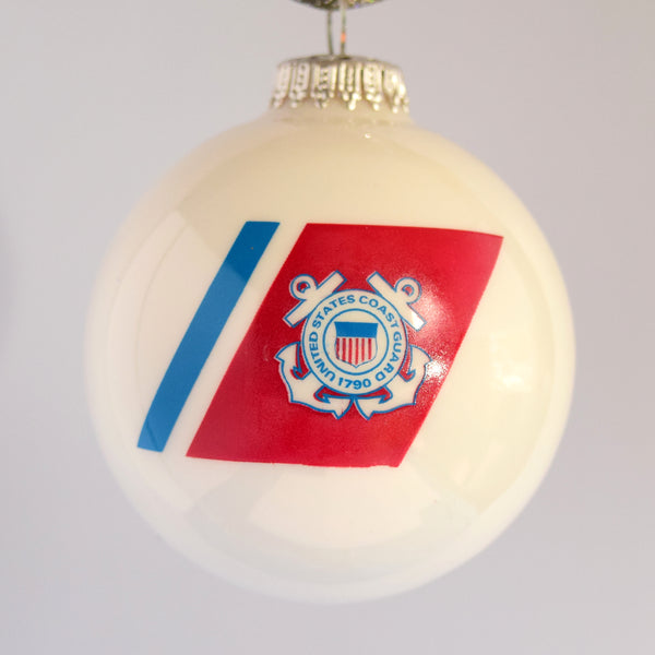 Coast Guard Glass Ornament