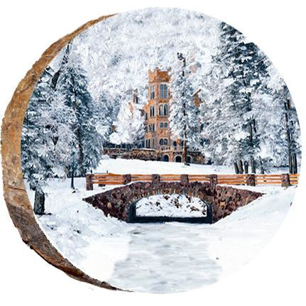 Glen Eyrie in the Winter Wood Ornament