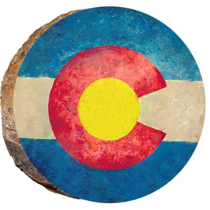 Colorado Flag Wood Ornament