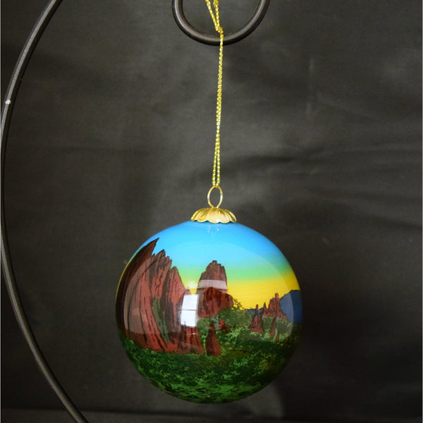 Garden of the Gods at Dusk Glass Ornament