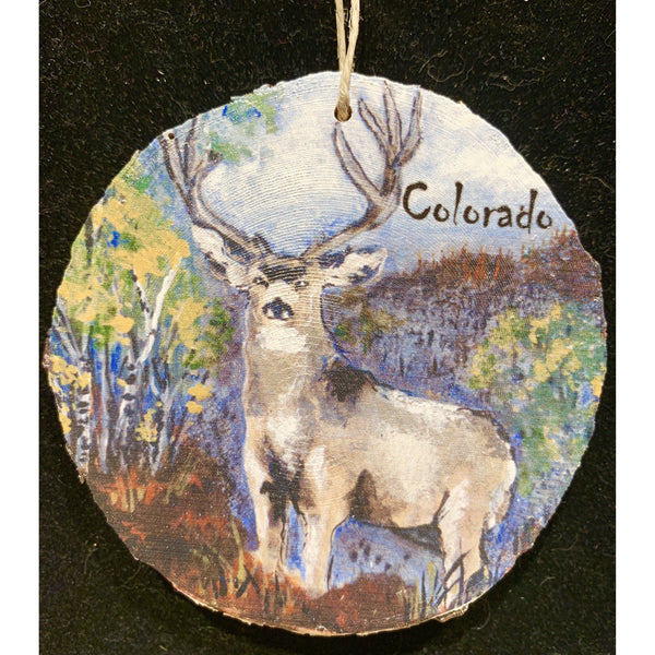 Deer in the Woods Wood Ornament