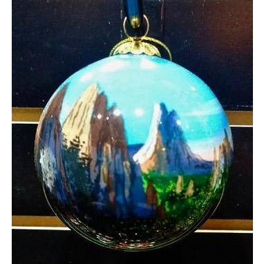 Garden of the Gods Sunset Glass Ornament
