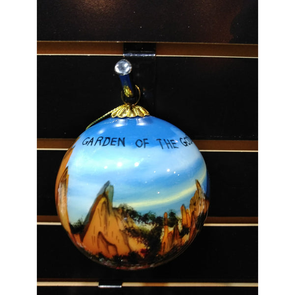 Garden of the Gods Glass Ornament Ball
