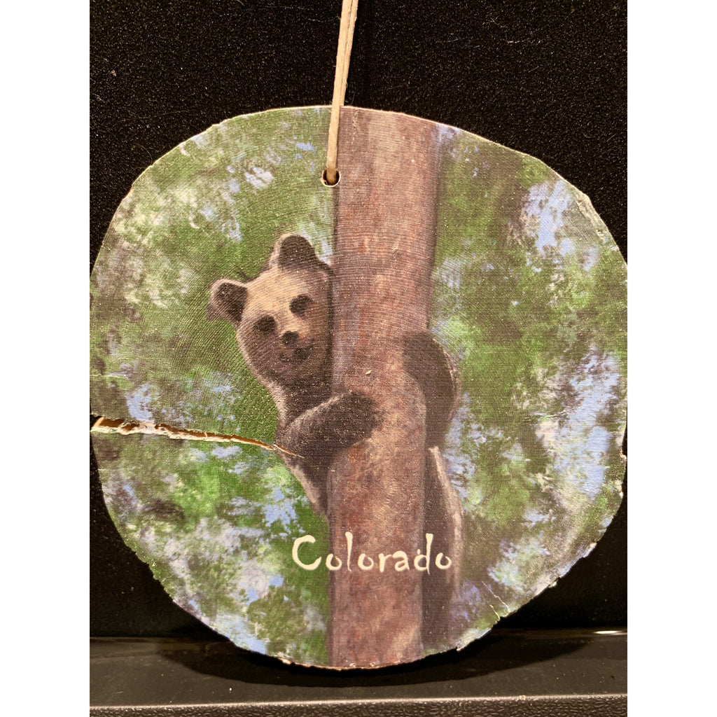 Colorado Bear Wood Ornament