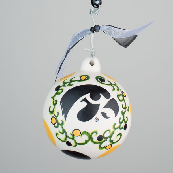 Iowa Porcelain Ball Ornament